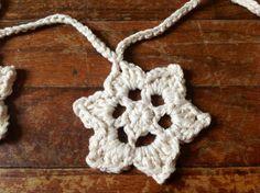 Hand Crochet Garland Small Doily Banner by OnceUponACraft4U, $28.50