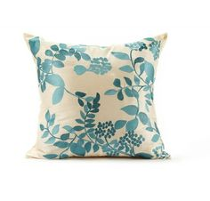 Thanks to its bold floral design, this throw pillow instantly turns any sofa, chair or bed into an original work of art. Accent Pillows, Bed Pillows, Cushions, Decor Interior Design, Interior Decorating, Decorating Ideas, Decor Ideas, Leaf Design, Floral Design