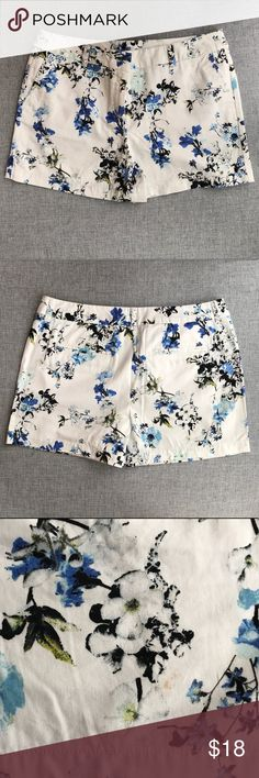 Floral Ann Taylor Loft Shorts NWT Beautiful, soft-to-the-touch fabric. Adorable fit. These shorts come new with the tag, and the one small blemish on the back looks like part of the print (see picture). Regardless, I am marking these down for being less than pristine. Excellent deal for these fantastic, classy, and comfortable shorts! LOFT Shorts