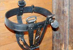 Iron chastity belts under lock and key are often connected with Medieval torture devices, but the truth is that they didn't become popular until the 1800s. Fashion magazines advertised them as a defense against rape. During the Industrial Revolution, women in England and France were entering the workforce in record numbers, and some bought the uncomfortable underpants to ward off sexual assaults. Men sometimes wanted their mates to wear them to prevent cheating and masturbation.