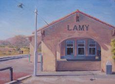 Lamy - New Mexico - Train Station - Historic - Landmark - Southwest - Plein Air - Original Oil Painting - Railroad - Depot - Santa Fe by JohnWhiteStudios on Etsy Travel New Mexico, Cross Country Trip, Southwest Usa, New Mexican, Native American Art, Santa Fe, Great Places, Oil, Trains