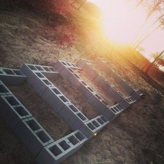 Stair step raised bed on the side of backyard hill! Beautiful Sun Set!