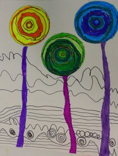 Chesterbrook Academy Elementary School, Raleigh, NC: Lines and Patterns--  Hunderwasser