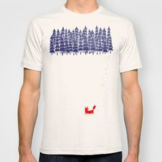 Alone+in+the+forest+T-shirt+by+Robert+Farkas+-+$22.00
