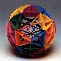 """The Geosphere Kit makes a 9"""" diameter sphere. Choose from a Dodecahedrom, Triacontrahedron, Sexagentahedron, or an Enenicontahedron. A great classroom or rainy day project. Easy to follow instructions. Recommended for children 8/9 years old and up. Assembly time is around 4 hours. Only supply needed (and not included) is a glue stick)."""