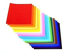 """Yasutomo 4253 Fold Ems Light-Weight Origami Paper, Square, 9-3/4"""" x 9-3/4"""" Size, Assorted Solid Color, 0.5"""" Height, 9.7"""" Width, 9.8"""" Length (Pack of 100)"""