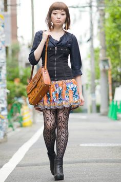 Tokyo, Japan Who: Eri What: Grimoire Almadel shop staff Wear: Grimoire Almadel jacket, skirt and bag, Jeffrey Campbell shoes   Read more: Global Street Style - Discover More Street Style - ELLE  Visit us at ELLE.com