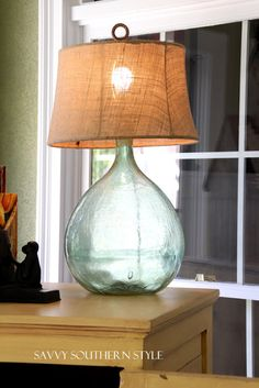 Vintage Demijohn - I'm in the process of turning mine into lamps!