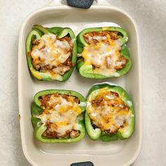 Chicken Stuffed Peppers are made with a fajita style mixture that combines onions, garlic, tex mex spices and chicken, then oven-baked until soft and cheesy Chicken Fajitas Mexican Healthy Low Carb Gluten-Free Cheesy Peppers Healthy Meal Prep, Easy Healthy Dinners, Healthy Cooking, Healthy Snacks, Healthy Eating, Cooking Recipes, Quick Healthy Food, Healthy Mexican Food, Easy Healthy Lunch Ideas