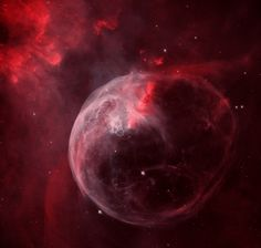 Cataloged as NGC 7635, it is also known simply as The Bubble Nebula. Although it looks delicate, the 7 light-year diameter bubble offers evidence of violent processes at work. Above and left of the Bubble's center is a hot, O-type star, several hundred thousand times more luminous and some 45 times more massive than the Sun. A fierce stellar wind and intense radiation from that star has blasted out the structure of glowing gas against denser material in a surrounding molecular cloud. The…