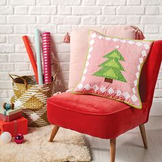 Cute Christmas Tree, All Things Christmas, Small Cushions, Subscription Gifts, Quilting Tools, Foundation Paper Piecing, English Paper Piecing, Wingback Chair, Basket Weaving