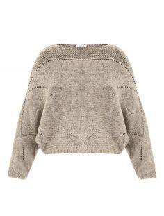 HELMUT LANG Gray Polar Bay Alpaca Blend Sweater