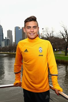 Paulo Dybala poses during a Juventus boat ride along the Yarra River on July 19…