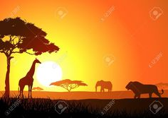 African Savanna Stock Vector Illustration And Royalty Free African ...