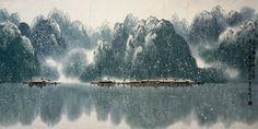 Chinese Snow Painting,69cm x 138cm,1095493-x
