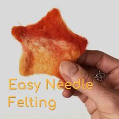 Easy Needle Felting (for Beginners!) How to Needle Felt, a Beginner's Guide. This is a super easy way to learn how to create Needle Felted Fabric Shapes with colorful Wool Roving and Cookie Cutters. A great Beginner's Needle Felting Tutorial. Felted Wool Crafts, Felt Crafts, Fabric Crafts, Needle Felting Supplies, Needle Felting Tutorials, Needle Felted Animals, Felt Animals, Sand Crafts, Felt Fabric