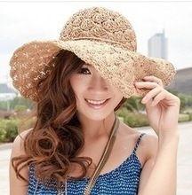 2017 Nueva Banda de la Mujer Crochet Hollow Cúpula Sombreros de Verano Para  mujeres malla Sombrero cf689c051c3