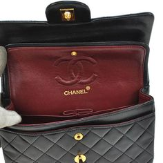 CHANEL Paris. Black Lambskin 9 2.55 Double Flap Quilted