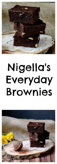 Nigella's Everyday Brownies - easy, cheap, delicious brownies! www.pastry-workshop.com #desserts #chocolate #pastryworkshop #pastrychef