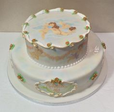 Painting and Scrolls on true cake