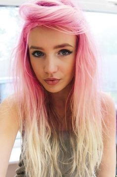Pink and Purple Ombre Hair | this awesome pink and blond ombre look (see above) or add some pink ...