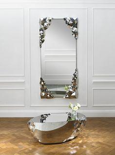 Luxury Interior Design, Interior Design Inspiration, Mirror Inspiration, Tinted Mirror, Luxury Mirror, Living Room Mirrors, Wall Mirrors, Diy Mirror, Mirror Ideas