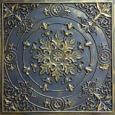 Faux finished aged embossed ceiling tiles ancient gold gray Interior wall panel store cafe pub decor ceiling panels by Fauxpaintceilingtile on Etsy Copper Ceiling Tiles, Gold Ceiling, Ceiling Fan, Accent Ceiling, Ceiling Decor, Chinoiserie, Covering Popcorn Ceiling, Tile Steps, Art Chinois