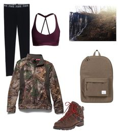 """Because I'm currently hiking"" by native-skulls on Polyvore featuring Woolrich, Herschel Supply Co. and Under Armour"