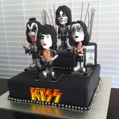 8 Best Kiss Rock Band Cakes Images Kiss Band 4 Years Pastries