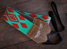 Turquoise & Red Native American Camera Strap, Navajo Inspired, vegan, on Etsy, $34.00