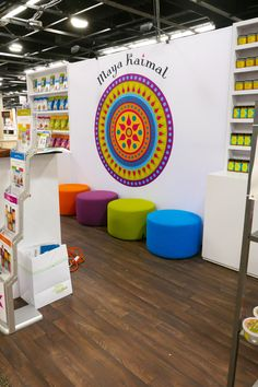 dca0beae429a Clean and colorful trade show exhibit by Condit. Booth Design