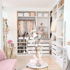 Bedroom Closet Design, Room Ideas Bedroom, Home Room Design, Closet Designs, Dressing Room Closet, Dressing Room Design, Closet Renovation, Wardrobe Room, Closet Layout