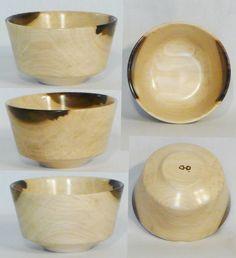 Tulip Poplar bowl hand turned by Cynthia D. Haney