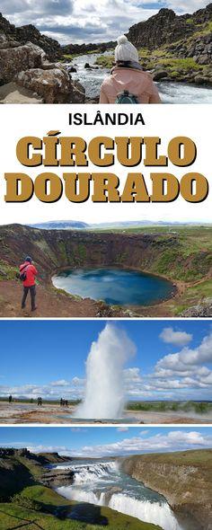detalhamos o principal circuito turístico da Islândia que é o Círculo Dourado (mais conhecido em inglês como Golden Circle), onde visitamos: Parque Nacional de Þingvellir; Vulcão Kerid; Geysir em Haukadalur; Cachoeira Gullfoss