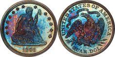1891 Seated Liberty Quarter PCGS PR66 CAC (EST: $2,750.00+, No Reserve) | READ MORE AND BID NOW: http://www.legendmorphyauctions.com/search/details/c/Classic_U.S._Coins/g/Quarters?id=102288&lotId=2557