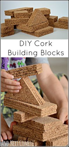How to make your own set of cork building blocks from And Next Comes L