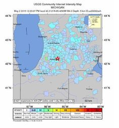 What Was That Rumble? Officials Confirm 4.2 Magnitude Earthquake Hits Michigan May 2, 2015