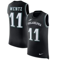 Carson Wentz Philadelphia Eagles Nike Color Rush Player Name & Number Tank Top - Black - $59.99