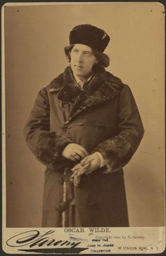He would be happy today! (5/23/2015)  from Oscar Wilde in America, Photographs by Napoleon Sarony, New York City 1882