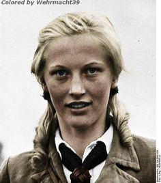 A young German girl from the Bund Deutscher Mädel.