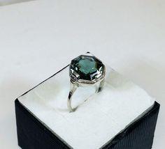 175 mm Art Deco Ring Silber 835 Turmalin SR763 von Schmuckbaron
