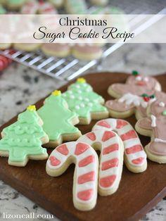 Christmas sugar cookie recipe. This recipe never fails me. @ lizoncall.com