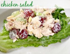 Chicken Salad with Grapes and Almonds | Real Food Real Deals #recipe #realfoodrealdeals