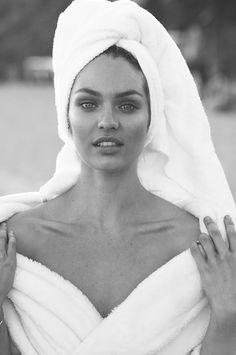 "Candice Swanepoel No. 4 in Mario Testino's ""Towel Series"""