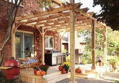 The pergola kits are the easiest and quickest way to build a garden pergola. There are lots of do it yourself pergola kits available to you so that anyone could easily put them together to construct a new structure at their backyard. Pergola Canopy, Pergola Swing, Metal Pergola, Deck With Pergola, Cheap Pergola, Wooden Pergola, Covered Pergola, Backyard Pergola, Pergola Shade