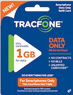 Tracfone 1GB Data Pin