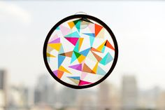 Geometric Kids Craft: DIY sun catcher