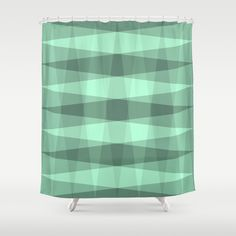 Foliage Shower Curtain #pattern #shape #green #shades #patterns #shapes #triangles #teal #turquoise #mint #checkered #design #society6 #showercurtain #shower #curtain #bathroom #bath #bathroomdecor #home #decor #happyhomes