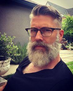 "73 Likes, 6 Comments - Dave johnson (@pennedog) on Instagram: ""Beard is clean, trimmed and neat thanks to @sofiacar. #beard #bearded #graybeard #grayhair…"""