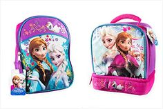 Disney Frozen Backpack Princess Elsa  Anna 16 with a Lunch Bag 95 Set *** Be sure to check out this awesome product.